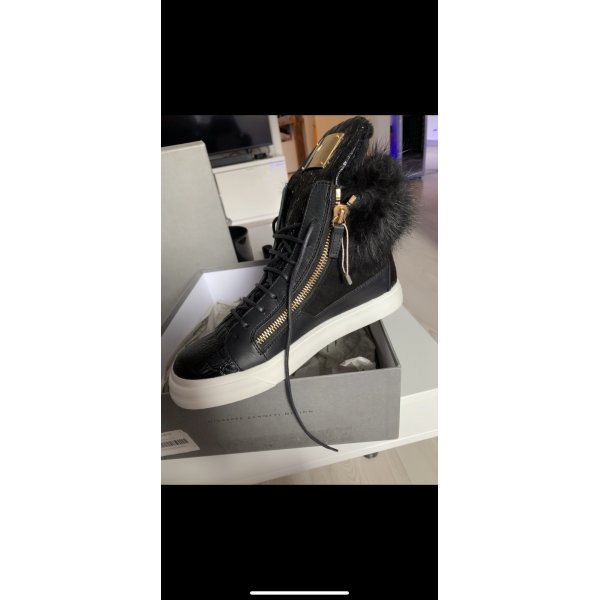 Giuseppe Zanotti High Top Sneaker black-white