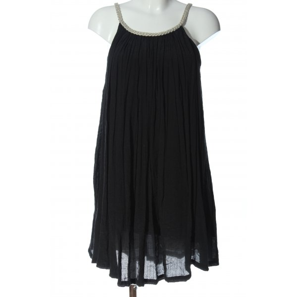 GOA Minikleid schwarz-wollweiß Zopfmuster Casual-Look