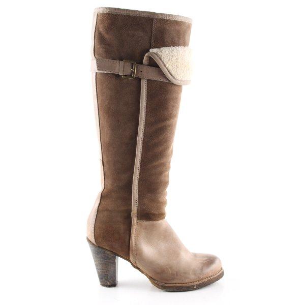 Görtz Shoes Absatz Stiefel braun-creme Casual-Look