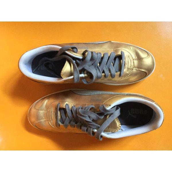 Gold silberfarbene Sneaker Puma Flipper 40