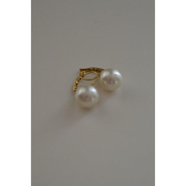 Goldene Perlenohrringe Ohrhänger elegant