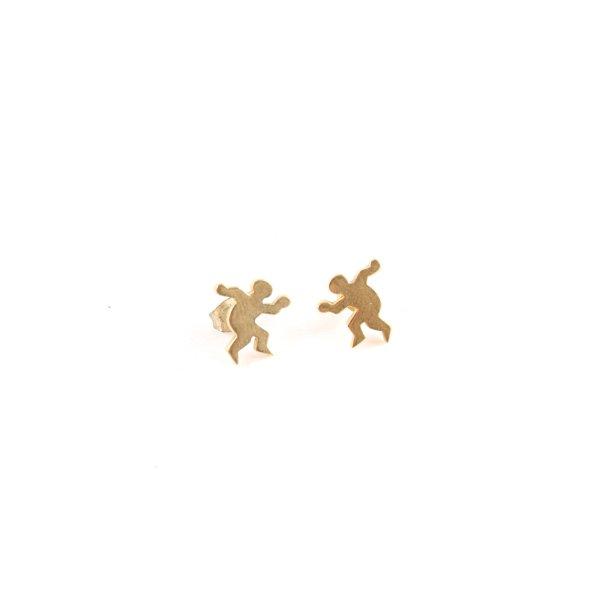 Goldohrringe goldfarben klassischer Stil