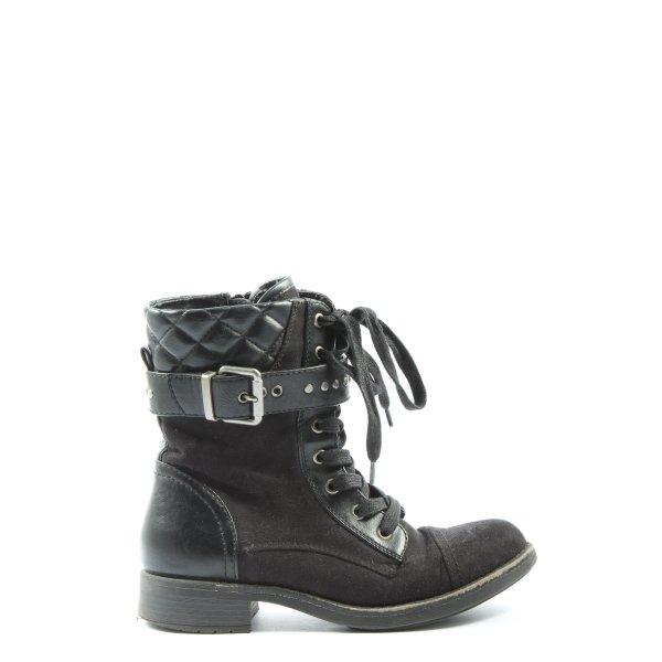 Graceland Booties schwarz Steppmuster Casual-Look