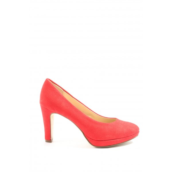 Graceland Hochfront-Pumps rot Casual-Look