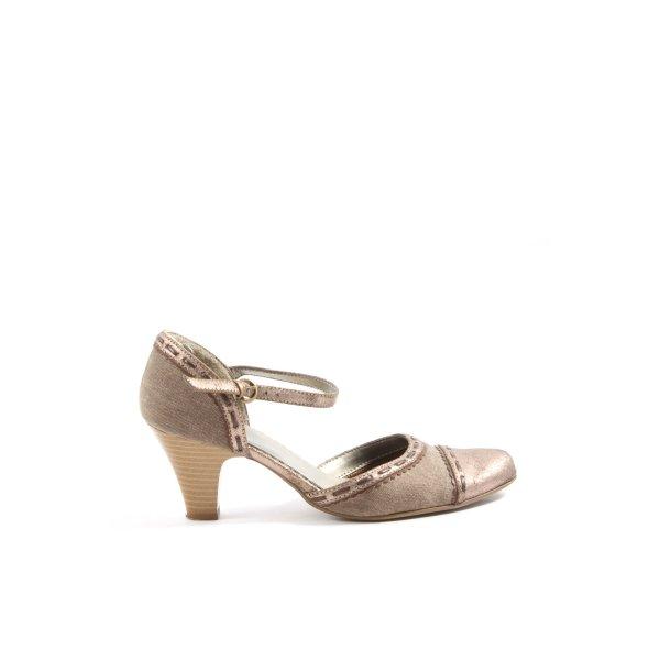 Graceland Hochfront-Pumps bronzefarben Casual-Look