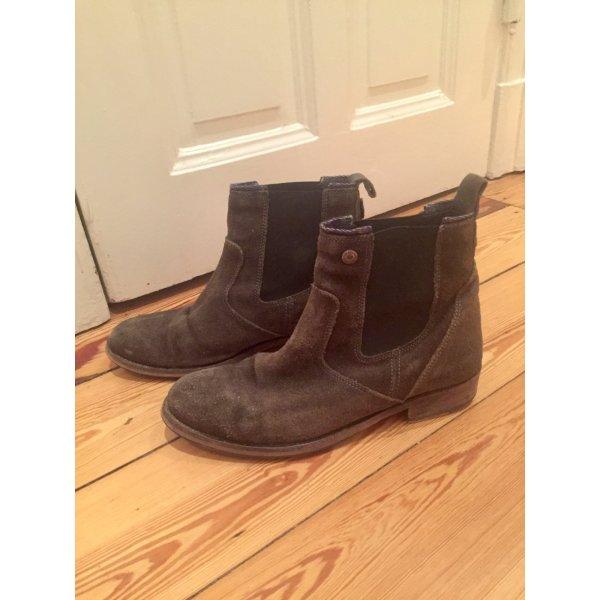 Graue Chelsea Boots Hilfiger Denim