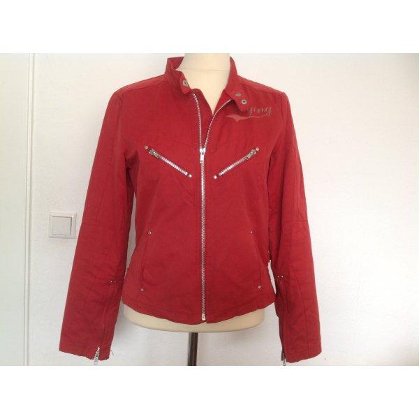 GreenHouse, Bikerjacke Jacke rot, Gr. 36, schöne Details, Top Zustand