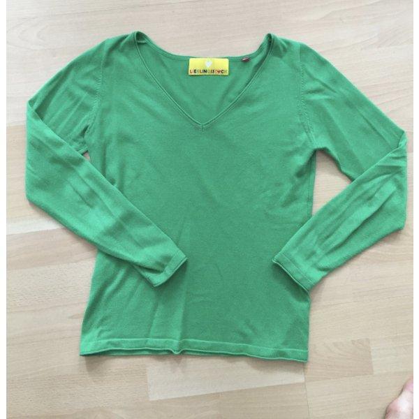 grüner V Pullover von Lieblingsstück