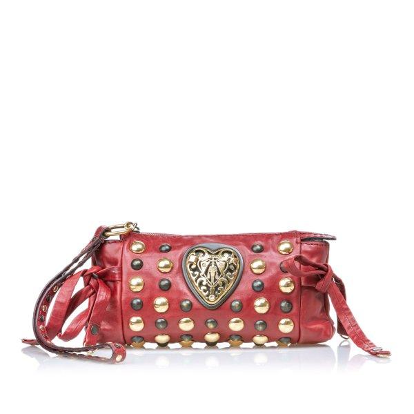 Gucci Babouska Hysteria Leather Clutch Bag