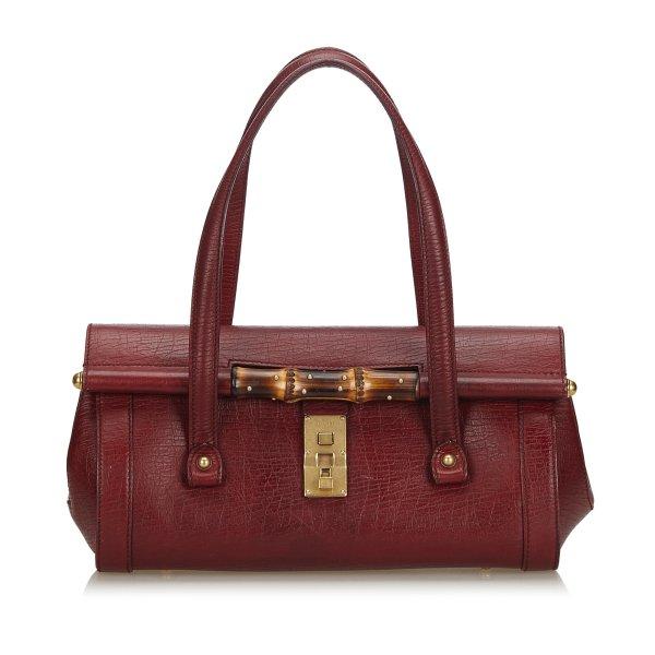 Gucci Bamboo Leather Bullet Handbag