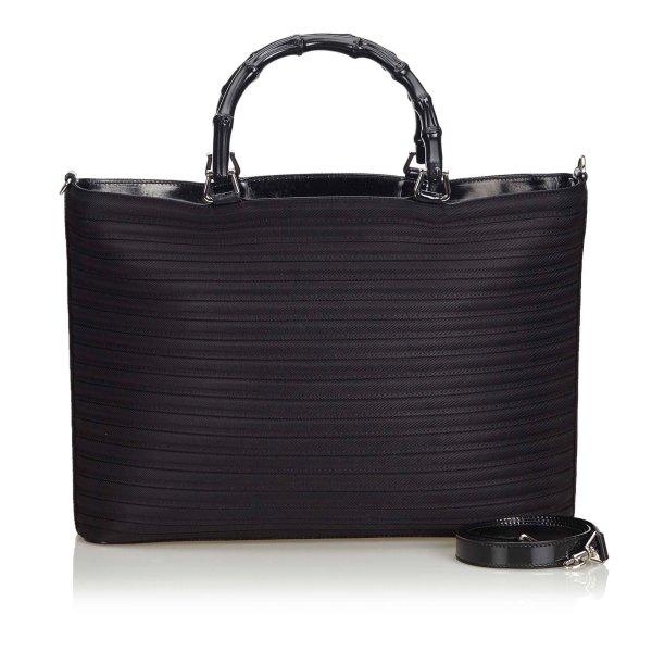 Gucci Bamboo Nylon Tote Bag