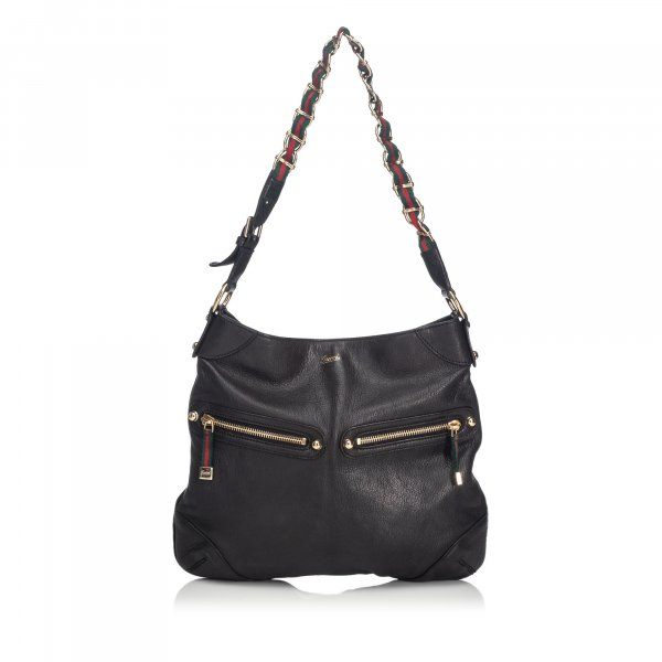 Gucci Capri Ranch Kid Leather Shoulder Bag