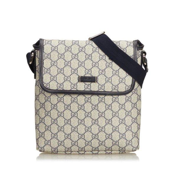 Gucci Coated Canvas GG Supreme Crossbody Bag