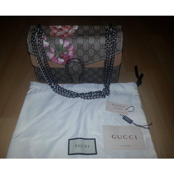 Gucci Schoudertas bruin-roze Leer