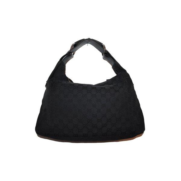 Gucci GG Canvas Horsebit Hobo Bag in schwarz