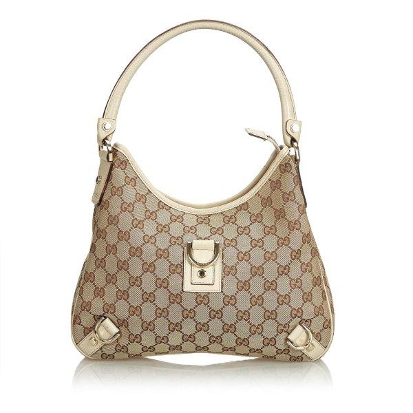 Gucci GG Jacquard Abbey Shoulder Bag