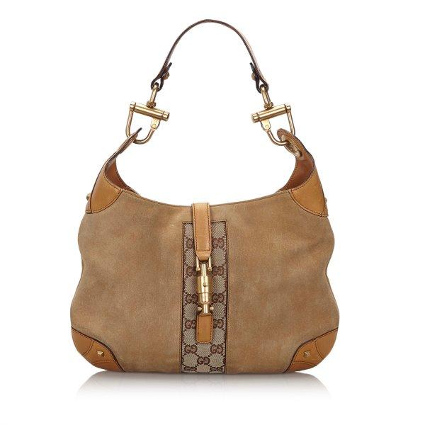 Gucci GG New Jackie Suede Shoulder Bag