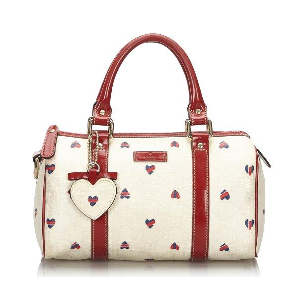 Gucci GG Supreme Hearts Small Joy Boston Bag