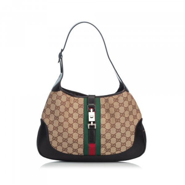 Gucci GG Web Jacquard Jackie Shoulder Bag