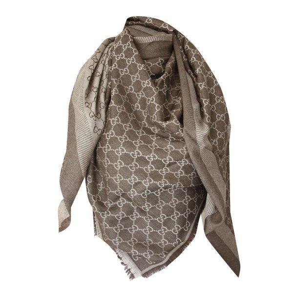 Gucci Guccissima XL Tuch aus Wolle und Seide, Braun
