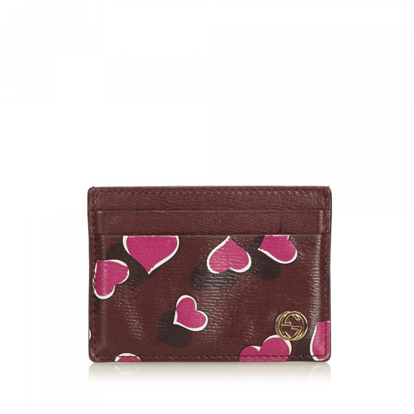 Gucci Heartbeat Print Card Holder