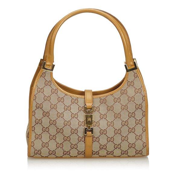 Gucci Jacquard GG Jackie Handbag