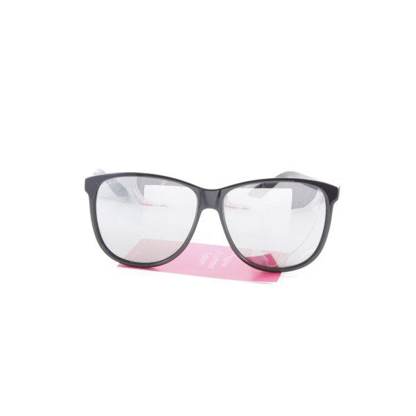 Gucci Karée Brille schwarz Logoprägung