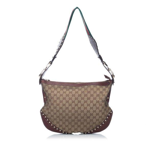 Gucci Large Guccissima Pelham Studded Messenger Bag