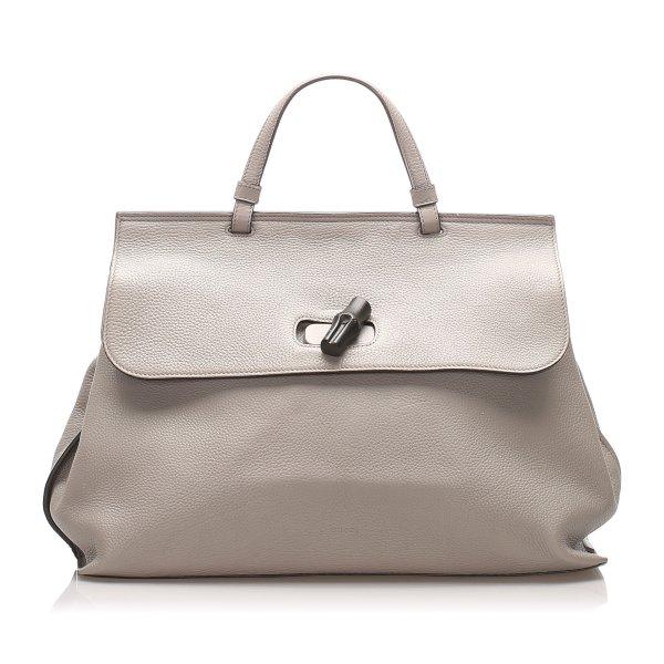 Gucci Leather Bamboo Daily Handbag
