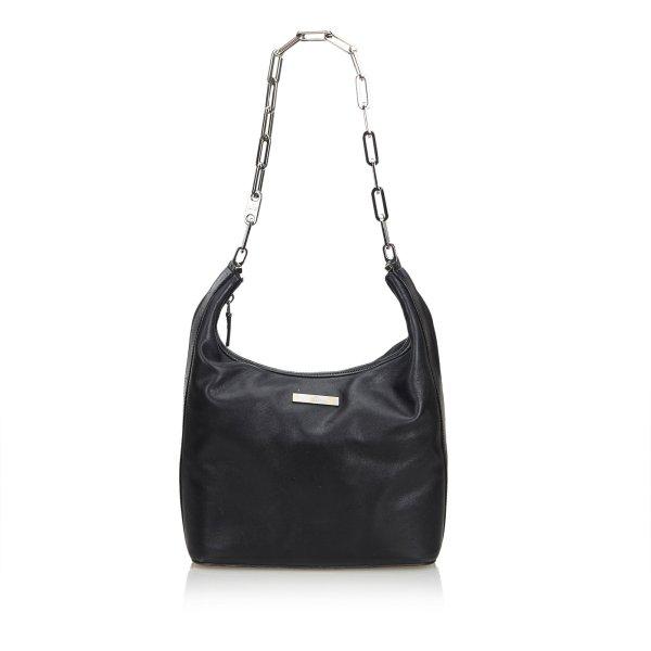 Gucci Leather Chain Hobo Bag