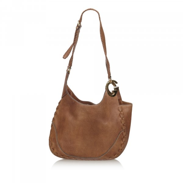 Gucci Leather Charlotte Hobo Bag