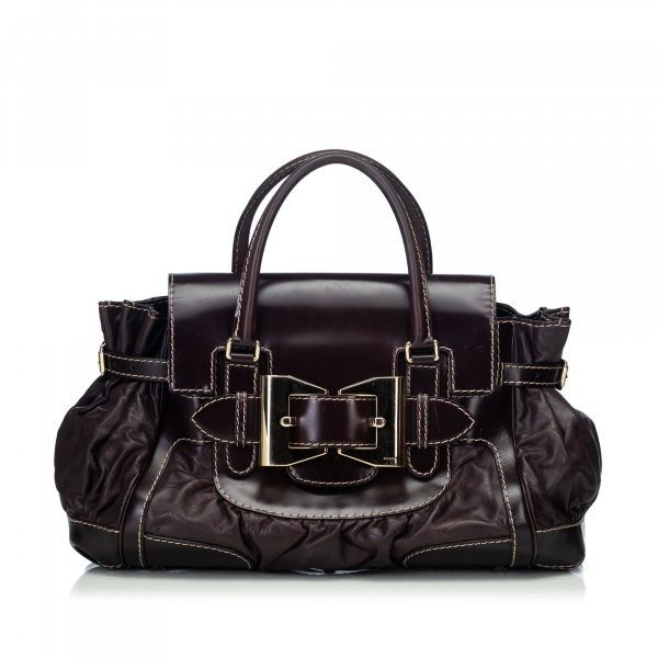Gucci Leather Dialux Queen Handbag