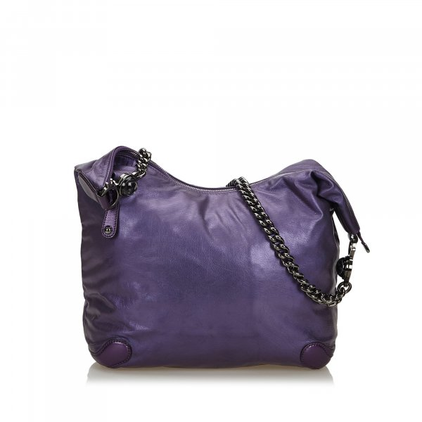 Gucci Leather Galaxy Chain Hobo Bag