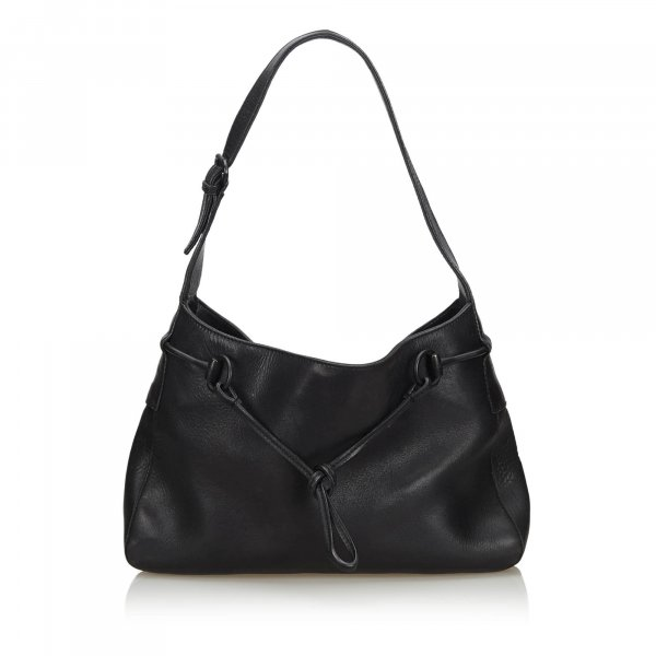 Gucci Leather Horsebit Shoulder Bag