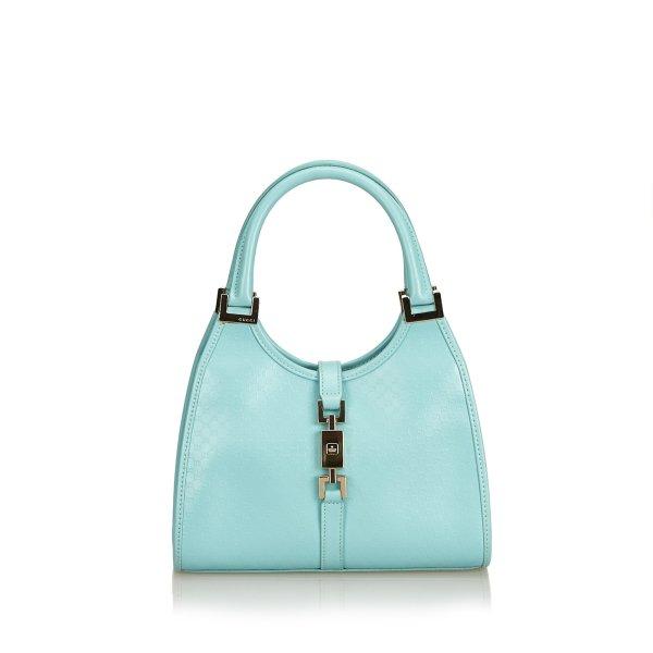 Gucci Bolso azul claro Cuero