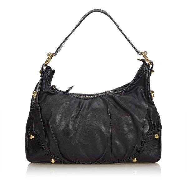 Gucci Leather Jockey Hobo Bag