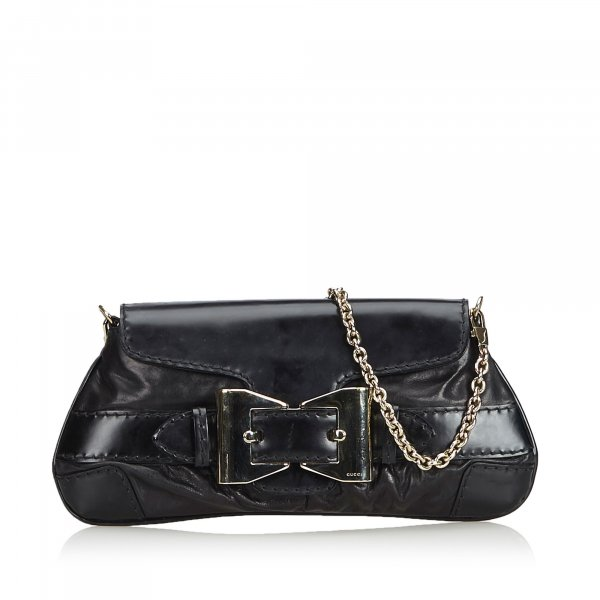 Gucci Leather Queen Baguette