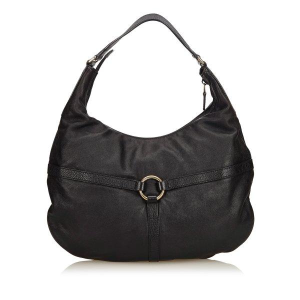 Gucci Leather Rein Hobo Bag