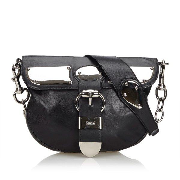 Gucci Leather Romy Messenger Bag