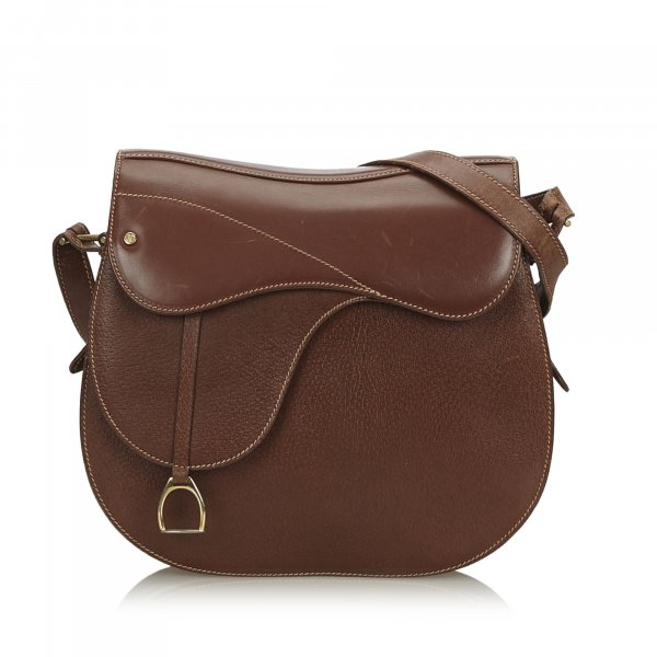 Gucci Leather Saddle Bag