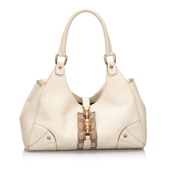 Gucci Nailhead Leather Jackie Shoulder Bag