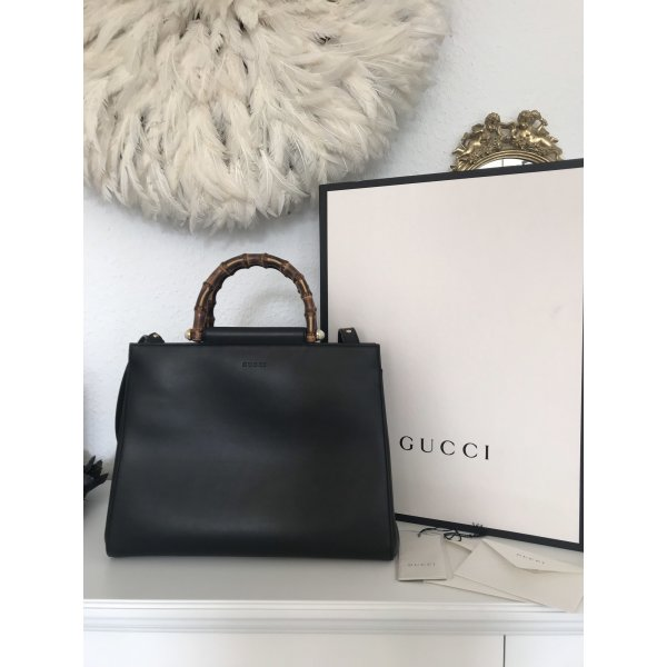 GUCCI Nymphaea Bamboo Tasche mit Rechnung, Box, Beutel