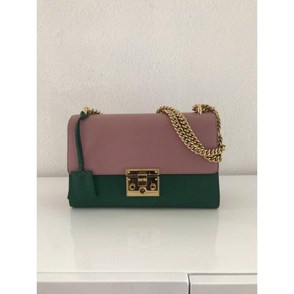 Gucci Padlock Tasche in Grün/ Rosa, überall ausverkauft