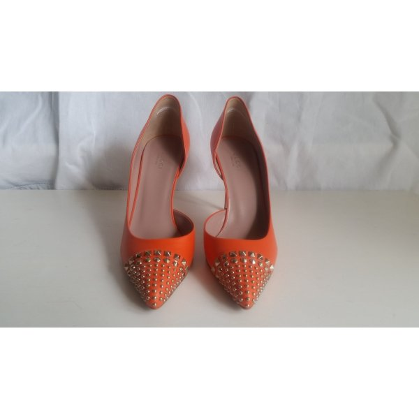 Gucci, Pumps, Leder, Nietenbesatz, orange, 39, neu