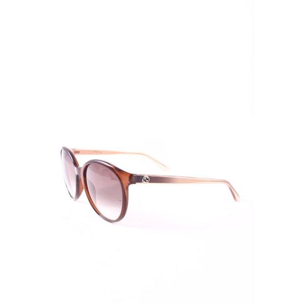 Gucci Retro Brille hellbraun Farbverlauf klassischer Stil