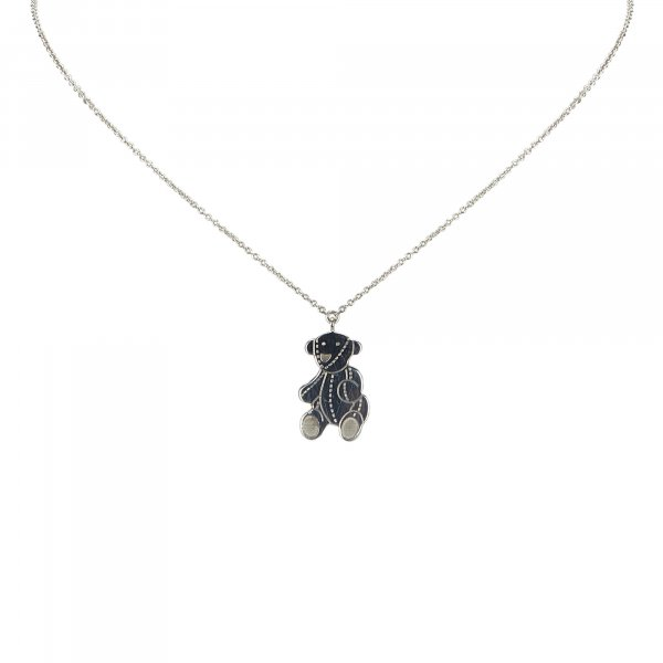 Gucci Silver Bear Necklace
