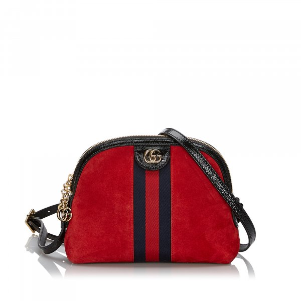 Gucci Small Suede Ophidia Crossbody Bag