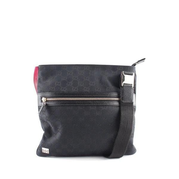 Gucci Umhängetasche schwarz Motivdruck Casual-Look