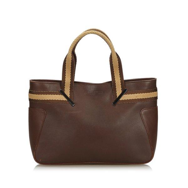 Gucci Web Leather Handbag