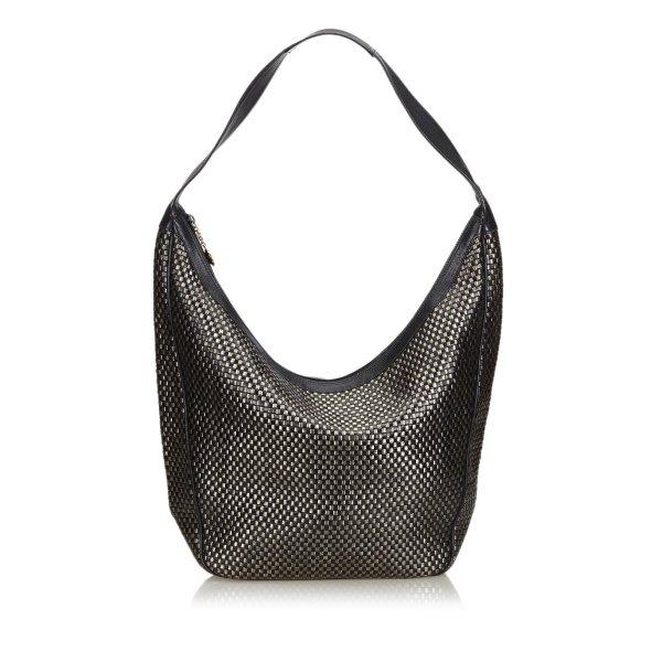 Gucci Woven Leather Shoulder Bag